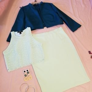 H&M Skirt and Forever 21 Tank Top